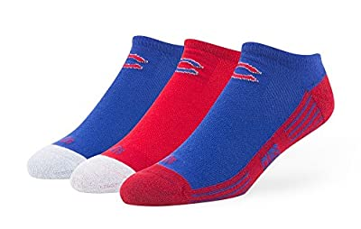"Chicago Cubs MLB 47 Brand ""Float"" 3 Pack Colorblocked Men's No Show Socks"