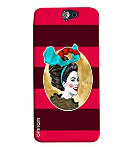 Omnam Girl Printed Joker with Red Purple Background for HTC One A9