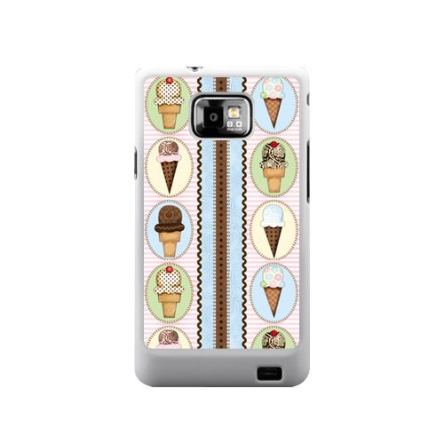 Ice Cream Case Colorful Ice Cream Melt Samsung Galaxy S2 I9100 Accessory Case Cover(Not Fit T-mobile and Sprint Version)