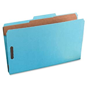 Pendaflex 2257LB Pendaflex Pressguard Classification Folders, Lgl, 6-Section, Light Blue, 10/Box