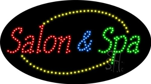 """Salon And Spa Animated Led Sign 15"""" Tall X 27"""" Wide X 1"""" Deep"""
