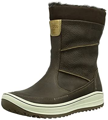 ECCO Women's Trace Plus Snow Boot, Coffee, 40 EU/9-9.5 M