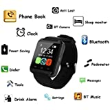 CurioCity(TM) Bluetooth Smart Watch Phone Mate Touch Screen Multilanguage Android/IOS Mobile Phone Wrist Watch Phone With Activity Tracker And Fitness Band Features Compatible With All Bluetooth 3.0 Or Above Enabled Smart Phones, Tablets And PC (support A