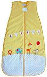 The Dream Bag Baby Sleeping Bag Circus COTTON 6-18 Months 1.0 TOG - Yellow