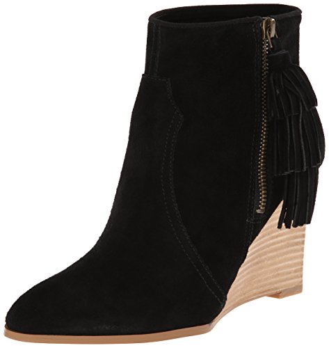 Nine West Women'S Retrolook Suede Boot, Black, 8.5 M Us