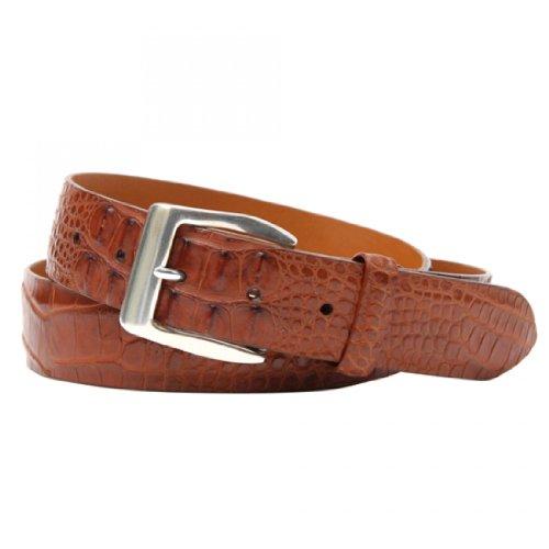 Trafalgar Spencer Chestnut Hornback Alligator Belt Size 38