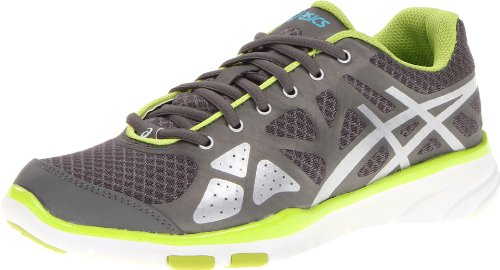 ASICS Women's Gel-Harmony TR Cross-Training Shoe,Titanium/Lightning/Lime,6.5 M US