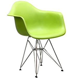 LexMod Paris Wire Armchair in Green