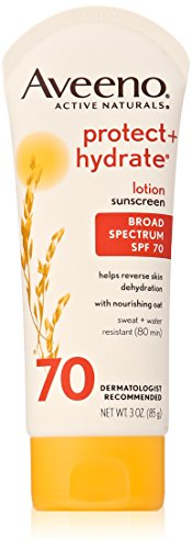 Aveeno Protect + Hydrate Lotion Sunscreen With Broad Spectrum SPF 70, 3 Oz