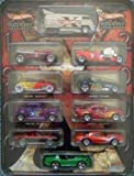 Hot Wheels Decades 1900-2000 Collectible Tin Drag Bus, '57 Chevy, Camaro, Viper