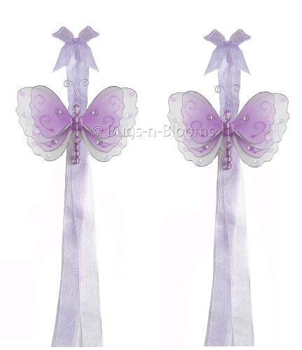 Butterfly Tiebacks Purple