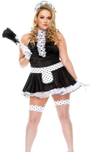 French Maid Plus Size Costume - Hunny by Forplay Black 2/3X