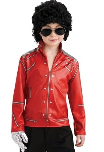 Kids Michael Jackson Red Pullover Costume Jacket