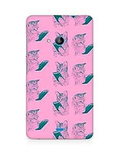 Amez designer printed 3d premium high quality back case cover for Microsoft Lumia 535 (mart phone cats )