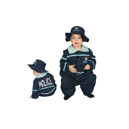 Baby Police Officer Infant Costume Age 9-12mo.