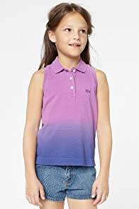 Girl's Sleeveless Dip Dye Pique Polo
