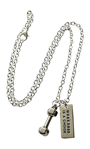 Dumbbell Necklace,
