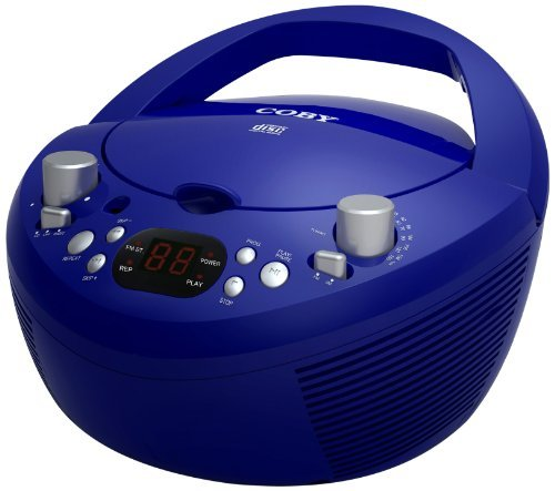 Coby CXDC251BLU Portable CD Player with AM/FM Radio, Blue