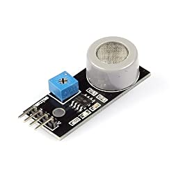 SainSmart MQ7 4P 180mA 5V DC Gas Tester Carbon Monoxide Detecting Sensor Module Detector for Arduino from SainSmart