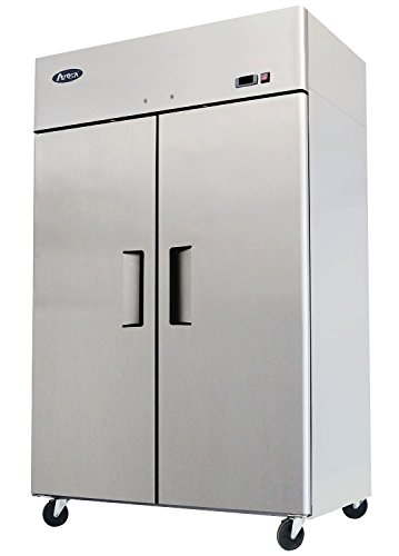 Atosa USA MBF8005 Series Stainless Steel 52-Inch Two Door Upright Refrigerator - Energy Star Rated