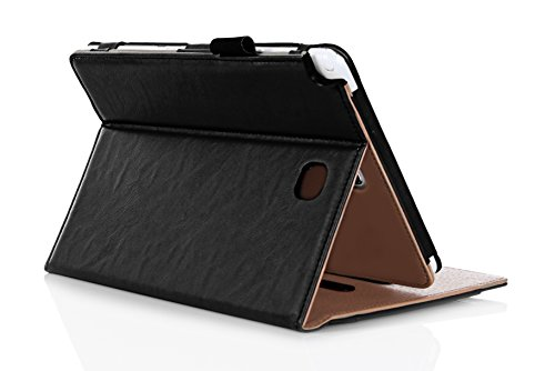 ProCase Samsung Galaxy Tab A 8.0 Case - Standing Cover Folio Case for 2015 Galaxy Tab A Tablet (8.0 inch, SM-T350 P350), with Multiple Viewing angles, auto Sleep/Wake, Document Card Pocket (Black) (Samsung Tablet Accessories compare prices)