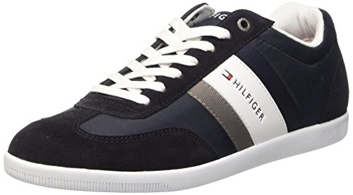 Tommy Hilfiger D2285ENZEL 1C Scarpe Low-Top, Uomo, Blu (Midnight 403), 44