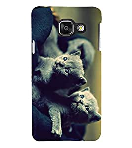PRINTSHOPPII CATS Back Case Cover for Samsung Galaxy A3 (2016) Duos