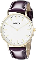 Breda Women's 1678D Analog Display Quartz Purple Watch