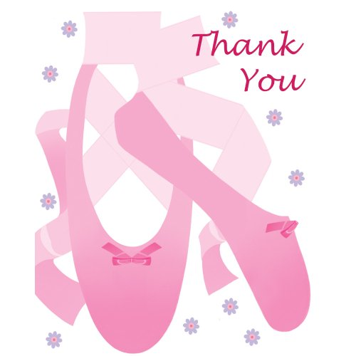Creative Converting Tutu Much Fun 8 Count Thank You Cards