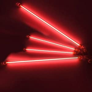 Undercar Underbody Car Neon Kit Lights Red 4 Pack Automotive