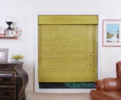 Shanghai Matchstick Bamboo Roman Shade - Free Shipping, 31x54