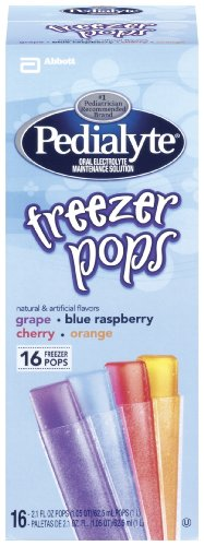 Pedialyte Freezer Pops - Assorted Flavors - 2.1 oz - 16 ct
