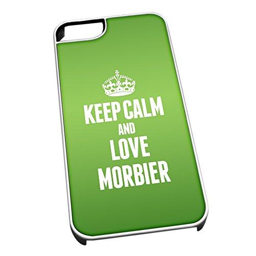 Weiß Schutzhülle für iPhone 5/5S 1291grün Keep Calm und Love morbier (Jura)