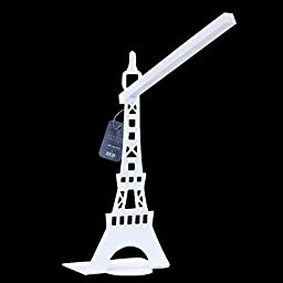 LED Reading Light, Zovie - The Creative DIY Eiffel Tower Lamp, Infinite Dimming Shelf Professional Light Setting Benefits for Eye Health. (White), new year present, new year gift