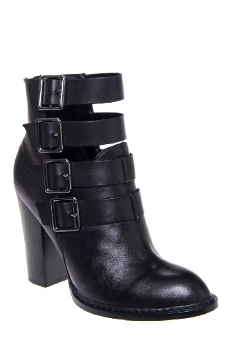 Chinese Laundry Gadget Chunky High Heel Buckle Strap Almond Toe Bootie