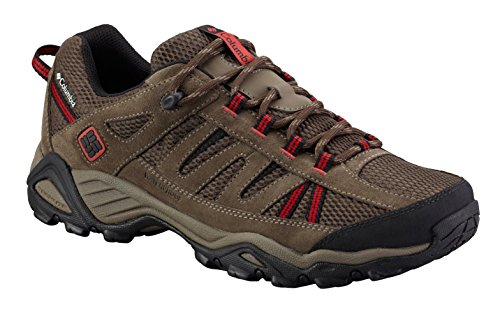 Columbia Men's North Plains Water Proof Trail Shoe, Cordovan/Gypsy, 11.5 M US