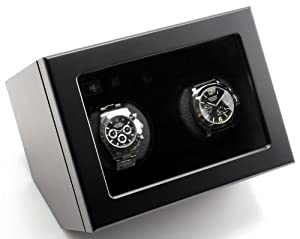 New Design Heiden Prestige Dual Watch Winder in Black