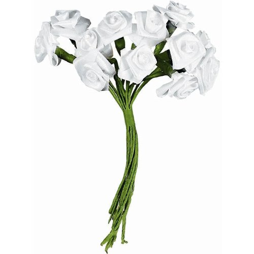 White Ribbon Roses (144 count)