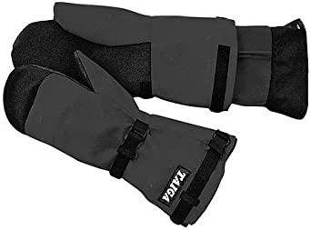 """Gore-tex waterproof and breathable Expedition Mitts with Fleece Liner (Medium (hand circumference 9""""), Black)"""