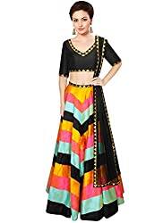 ladyvastra Navratri Collection Multi Color Rawsilk Lehenga Choli