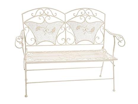 Banco de jardín de hierro 25kg muy estable banco plegable muebles de jardín de