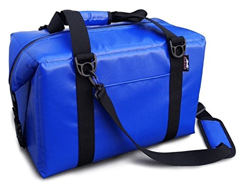 Leopard Outdoor Vinyl Cooler Bag, Perfect for Camping, Fishing, Hiking or Outdoor Picnic, 12Can Blue (Collapsible Cooler Waterproof compare prices)
