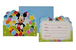 Funcart Mickey Mouse Theme invitation