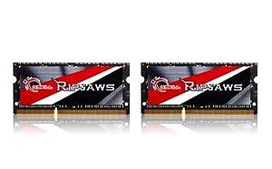 G.Skill Ripjaws Series Laptop Memory F3-1600C9D-16GRSL 16GB (2 x 8G)  DDR3 SO-DIMM 1.35v  Dual-channel