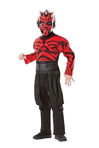 Deluxe Darth Maul Childrens Rubies Star Wars Muscle Chest Fancy Dress Costume