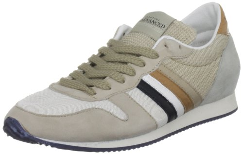 Serafini Sport Unisex-Adult Los Angeles White Beige Leather Trainer 1775 11 UK, 44 EU