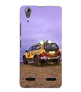 Beach Safari 3D Hard Polycarbonate Designer Back Case Cover for Lenovo A6000 :: Lenovo A6000 Plus :: Lenovo A6000+