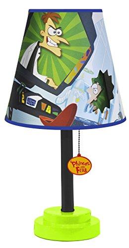 Disney RK317660 Phineas and Ferb Die Cut Table Lamp