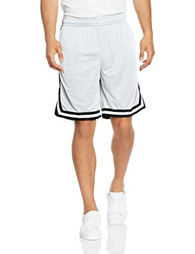 Urban Classics Stripes Mesh Shorts- Pantaloncini Uomo, Multicolore (whtblkwht 244), taglia produttore M