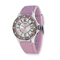 Moog Fashionista Huit White Dial/Pink Silicon Strap Watch